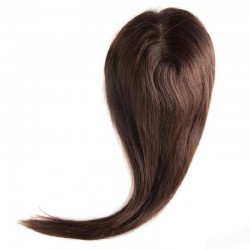 Crown Topper Hair Extensions, Colour #4 (Dark Brown), Made With Remy Indian Human Hair
