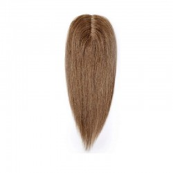 Crown Topper Hair Extensions, Colour #8 (Chestnut Brown), Made With Remy Indian Human Hair