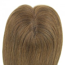 Crown Topper Hair Extensions, Colour #6 (Medium Brown), Made With Remy Indian Human Hair