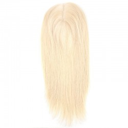 Crown Topper Hair Extensions, Colour #60 (Lightest Blonde), Made With Remy Indian Human Hair