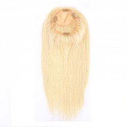 Crown Topper Hair Extensions, Colour #613 (Platinum Blonde), Made With Remy Indian Human Hair