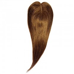 Crown Topper Hair Extensions, Colour #30 (Dark Auburn), Made With Remy Indian Human Hair