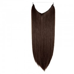 Flip-in Halo Hair Extensions, Colour #2 (Darkest Brown), Made With Remy Indian Human Hair