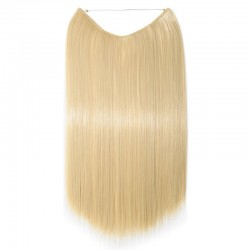 Flip-in Halo Hair Extensions, Colour #22 (Light Pale Blonde), Made With Remy Indian Human Hair