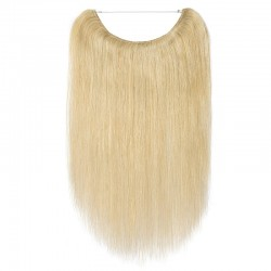Flip-in Halo Hair Extensions, Colour #24 (Golden Blonde), Made With Remy Indian Human Hair