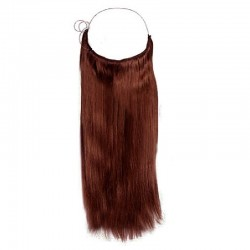 Flip-in Halo Hair Extensions, Colour #33 (Jet Black), Made With Remy Indian Human Hair