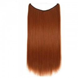 Flip-in Halo Hair Extensions, Colour #35 (Red Rust), Made With Remy Indian Human Hair