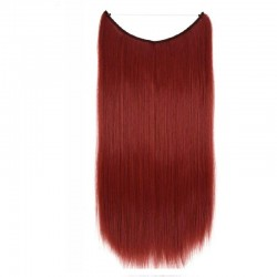 Flip-in Halo Hair Extensions, Colour #530 (Red Wine), Made With Remy Indian Human Hair
