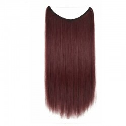 Flip-in Halo Hair Extensions, Colour #99j (Burgundy), Made With Remy Indian Human Hair