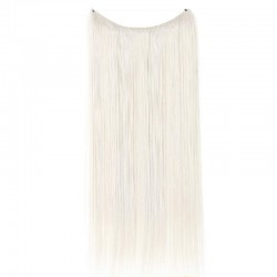 Flip-in Halo Hair Extensions, Colour #Grey, Made With Remy Indian Human Hair