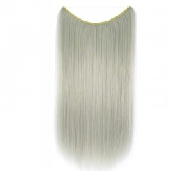 Flip-in Halo Hair Extensions, Colour #Silver, Made With Remy Indian Human Hair